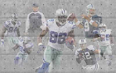 Dallas Cowboys Team Poster by Joe Hamilton