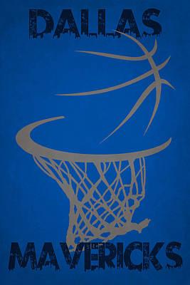 Dallas Mavericks Hoop Poster by Joe Hamilton