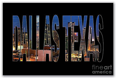 Dallas Texas Skyline Poster by Marvin Blaine