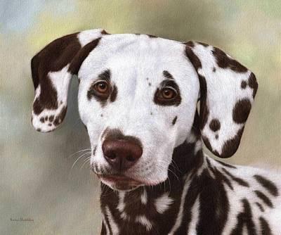 Dalmatian Painting Poster by Rachel Stribbling