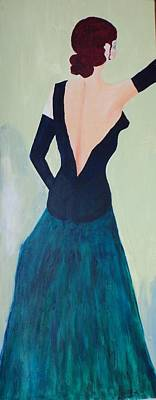 Dame De L'opera Poster by Lucie  Menard