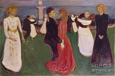 Dance Of Life Poster by Edvard Munch