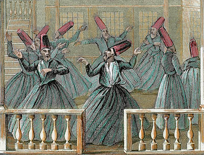 Dance Of The Sufi Dervishes Poster by Prisma Archivo