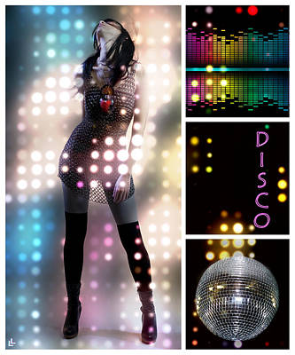Dance Series - Disco Poster by Linda Lees