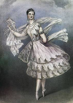 Dancer Maria Taglioni In The Ballet Le Poster by Everett