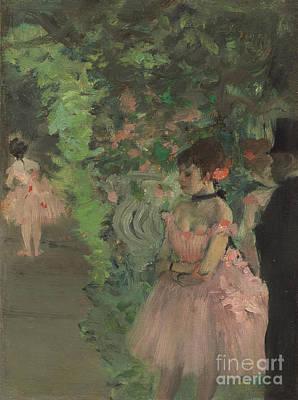 Dancers Backstage Poster by Edgar Degas