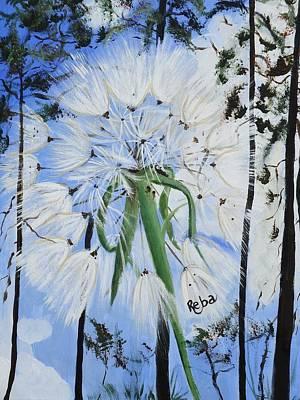 Dandelions Song Poster by Reba Baptist