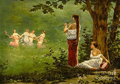 Dans La Prairie 1890 Poster by Padre Art