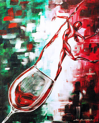 Dans Le Vin Mistero Poster by Lisa Owen-Lynch