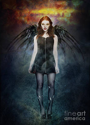 Dark Angel Poster by Michael  Volpicelli