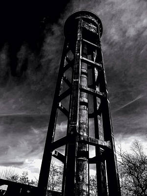 Dark Clouds Over The Tower Poster by Mountain Dreams