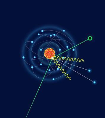 Dark Matter Colliding With An Argon Atom Poster by David Parker