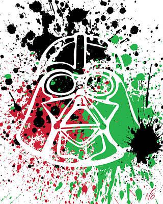 Darth Vader Goes Splat Poster by Decorative Arts