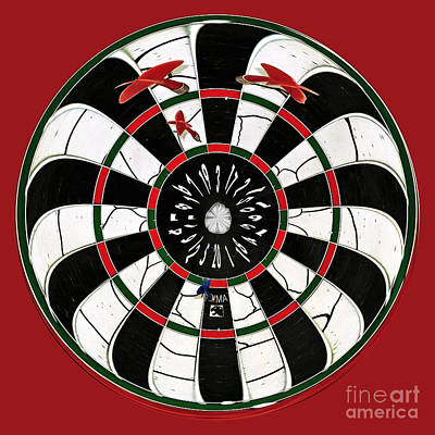 Darts After A Few Beers Poster by Kaye Menner
