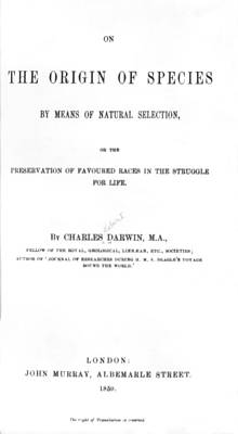 Darwin's The Origin Of Species Poster by Underwood Archives