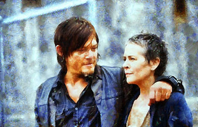 Daryl And Carol  Poster by Janice MacLellan