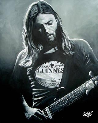 David Gilmour Poster by Tom Carlton