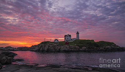 Dawn At The Nubble Poster by Steven Ralser