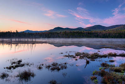 Dawn Breaking Over Shaw Pond Poster by Panoramic Images
