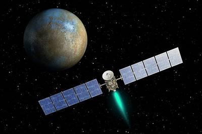 Dawn Spacecraft At Ceres Poster by Nasa/jpl-caltech