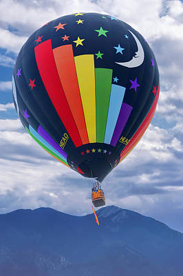Day And Night - Hot Air Balloon Poster by Nikolyn McDonald
