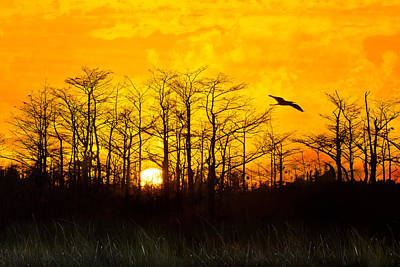 Day's End Poster by Debra and Dave Vanderlaan