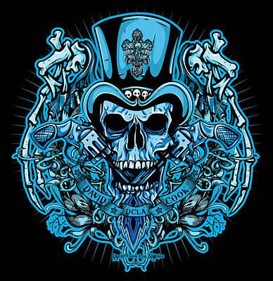 Dcla Skull Rocker Wings Poster by David Cook Los Angeles