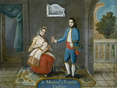 De Mestiza Y Espa�ol, Castizo From Poster by Everett