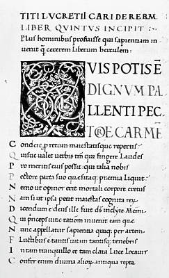 De Natura Rerum Poster by Granger
