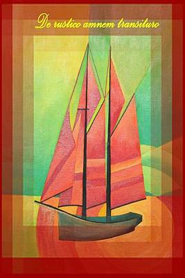 De Rustico Amnem Transituro Greeting Card Poster by Tracey Harrington-Simpson