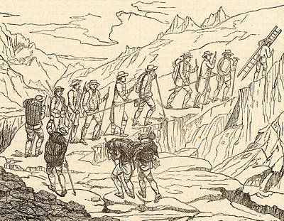 De Saussure's Ascent Of Mont Blanc Poster by Universal History Archive/uig