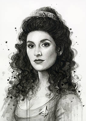 Deanna Troi - Star Trek Fan Art Poster by Olga Shvartsur