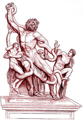 Death Of Laocoon Poster by Collection Abecasis