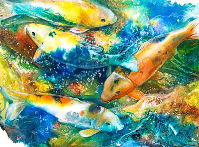 December Koi II Poster by Patricia Allingham Carlson