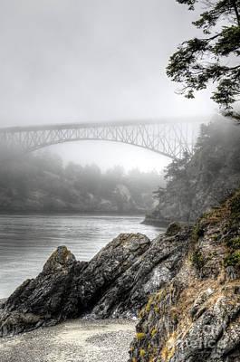 Deception Pass Bridge Poster by Sarah Schroder