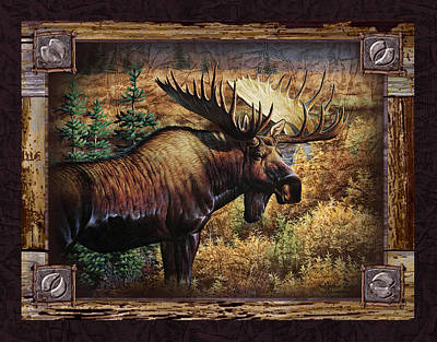 Deco Moose Poster by JQ Licensing