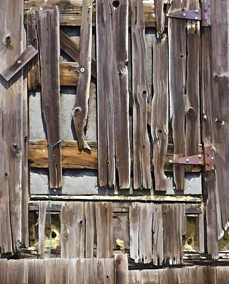 Decrepit Barn Door Poster by David Letts