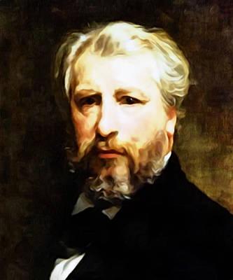Dedication To William Adolphe Bouguereau Poster by Georgiana Romanovna