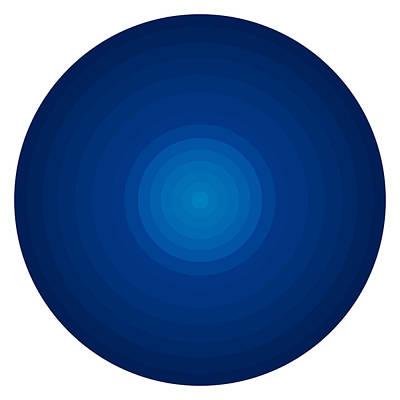 Deep Blue Circles Poster by Frank Tschakert