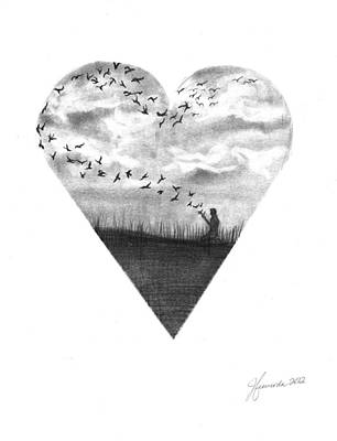 Deep In Our Hearts Poster by J Ferwerda