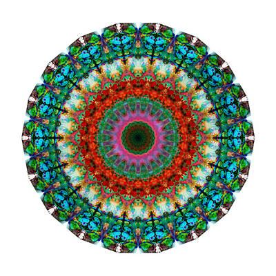 Deep Love - Mandala Art By Sharon Cummings Poster by Sharon Cummings