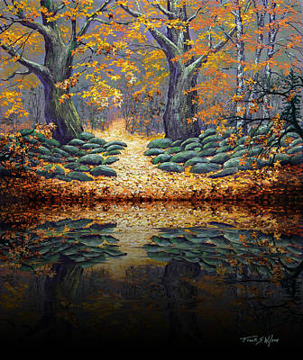 Deep Pond Reflections Poster by Frank Wilson