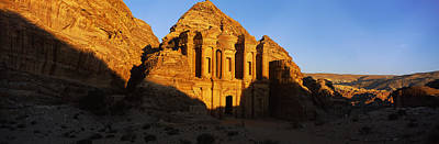 Deep Shadows At The Monastery, Al Deir Poster by Panoramic Images