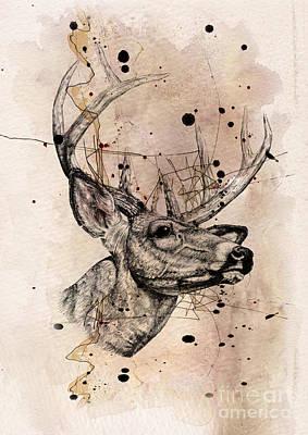 Deer 4 Poster by Mark Ashkenazi