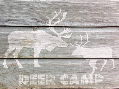 Deer Camp Poster by Celestial Images