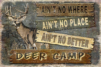 Deer Camp Poster by JQ Licensing