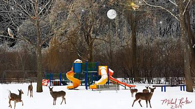 Deer Park Poster by Michael Rucker
