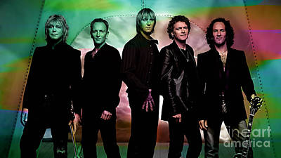 Def Leppard Poster by Marvin Blaine