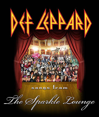 Def Leppard - Songs From The Sparkle Lounge 2008 Poster by Epic Rights