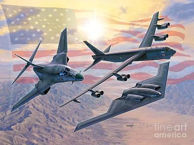Defending Freedom Poster by Stu Shepherd